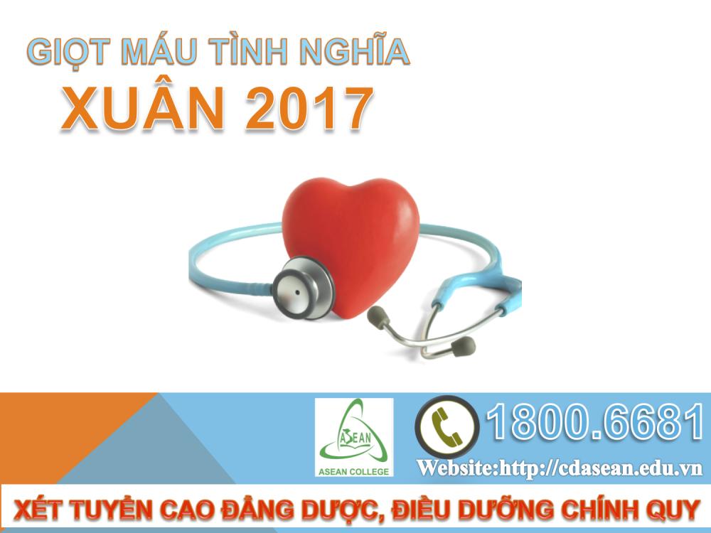 """""""Giọt máu nghĩa tình xuân 2017"""" - ngày hội hiến máu nhân đạo của sinh viên Y Dược Asen"""