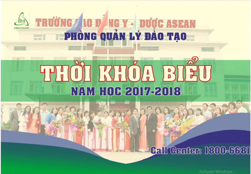 Thời khóa biểu tuần học thứ 12 năm học 2017-2018