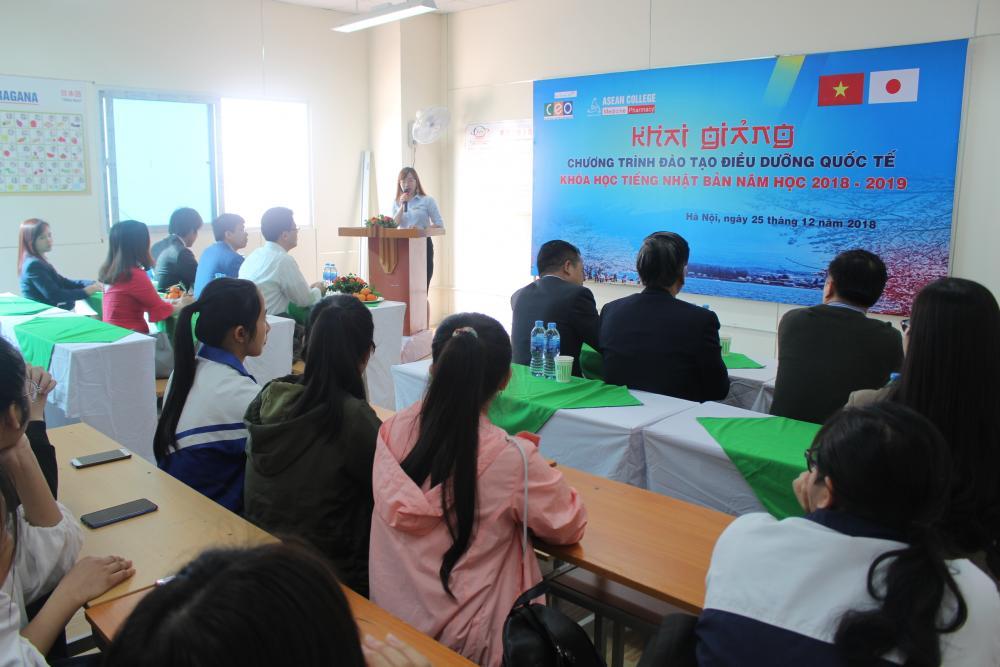 Khai giảng khóa học Tiếng Nhật Bản cho sinh viên Điều dưỡng Quốc tế