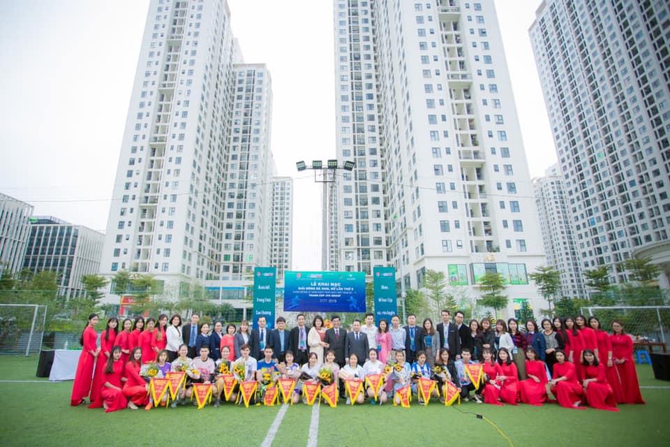 Khai mạc giải bóng đá Nam - Nữ lần thứ 6 chào mừng ngày Nhà giáo Việt Nam tranh cup JVS
